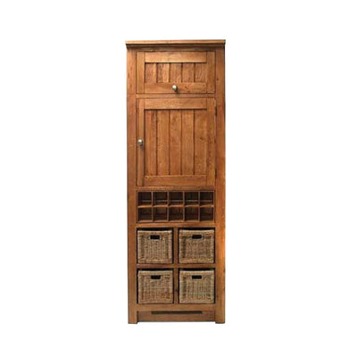 Evelyn Oak Larder Unit with Baskets by Roseland Furniture