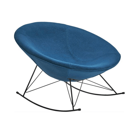 Ozzy Round Rocking Chair - Petrol Blue