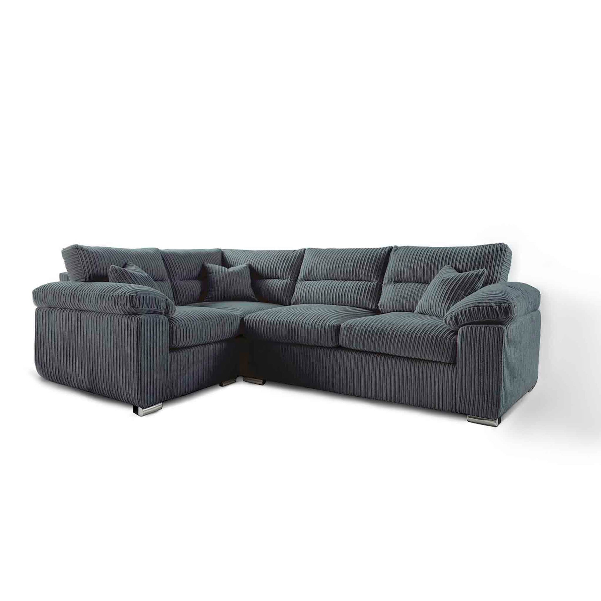 Amalfi Charcoal Right Hand Corner Fabric Sofa from Roseland Furniture