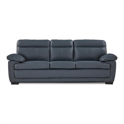 Hugo 3 Seater Leather Sofa Grey