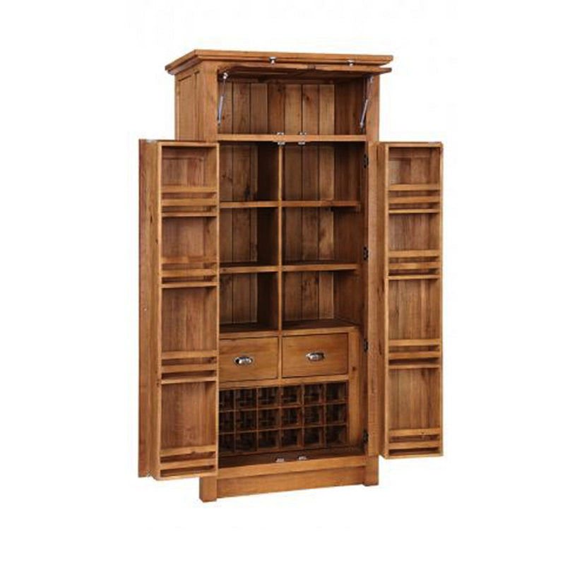 Evelyn Oak Larder Unit with Wine Rack