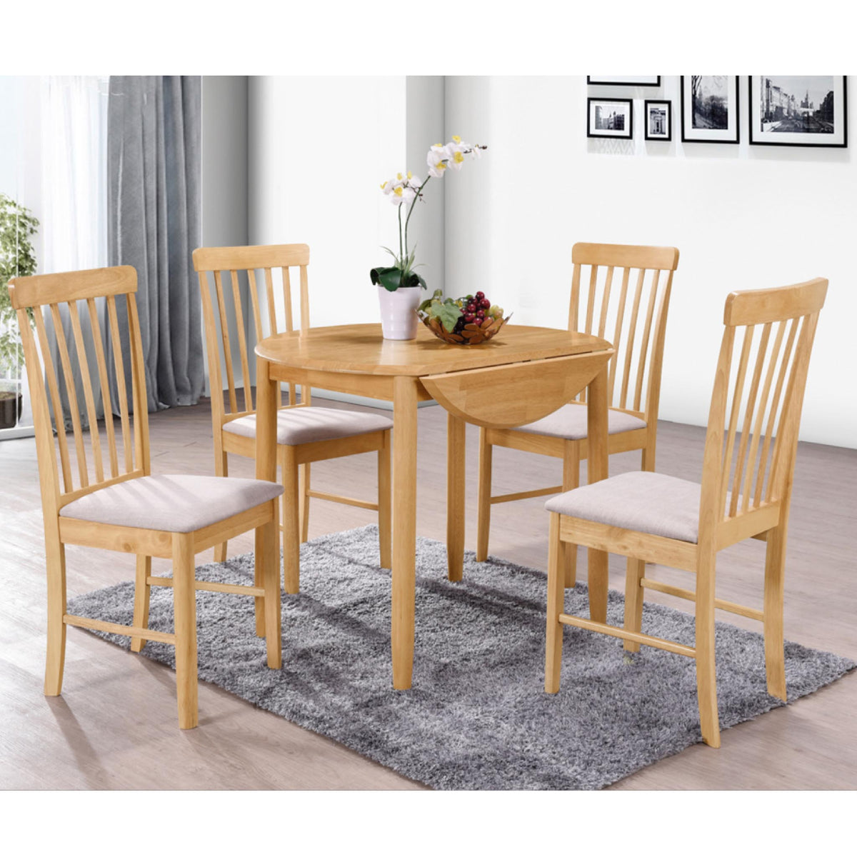 Cologne Round Drop Leaf Dining Table by Roseland Furniture
