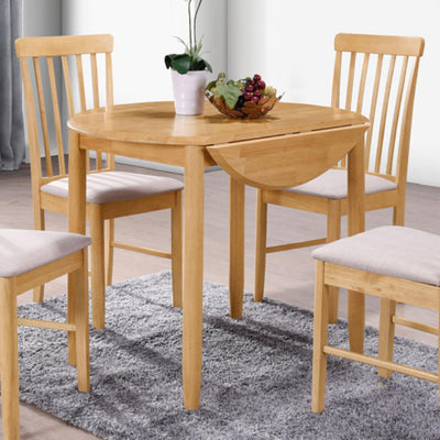 Cologne Round Drop Leaf Dining Table - Close Up