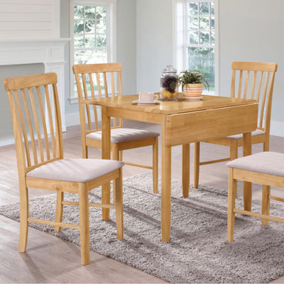 Cologne Square Drop Leaf Dining Table  - Close Up