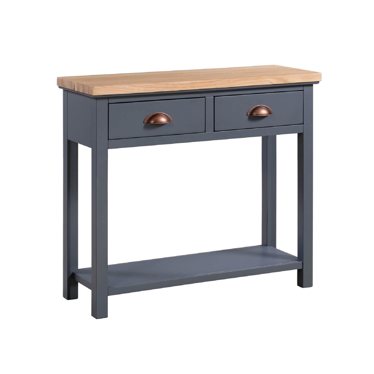 Richmond Oak Two Drawer Console Table by Roseland Furniture