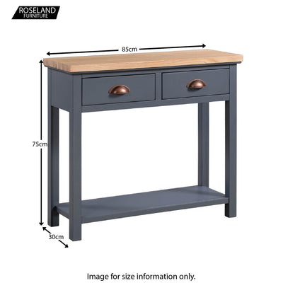 Dimensions - Richmond Oak Two Drawer Console Table