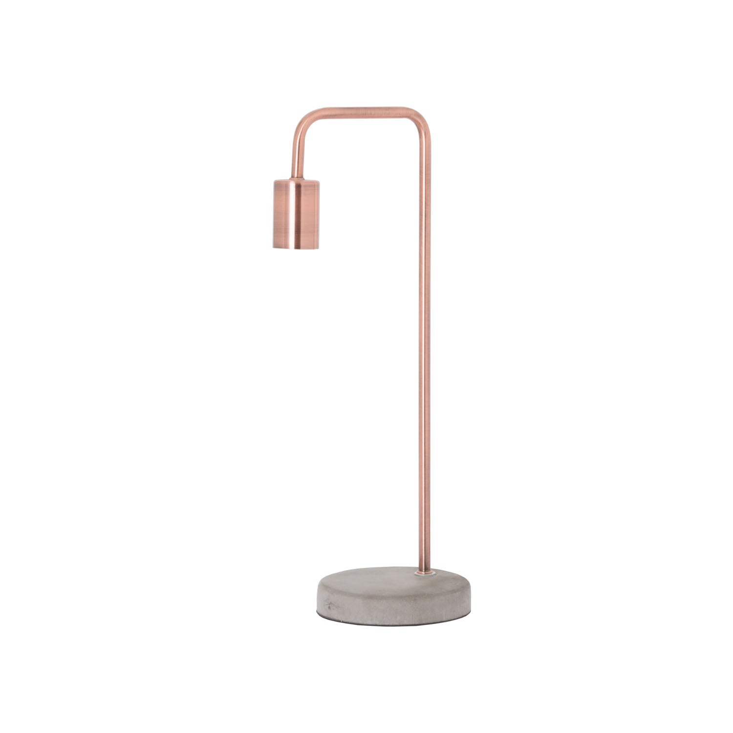 Copper Lamp with Stone Base