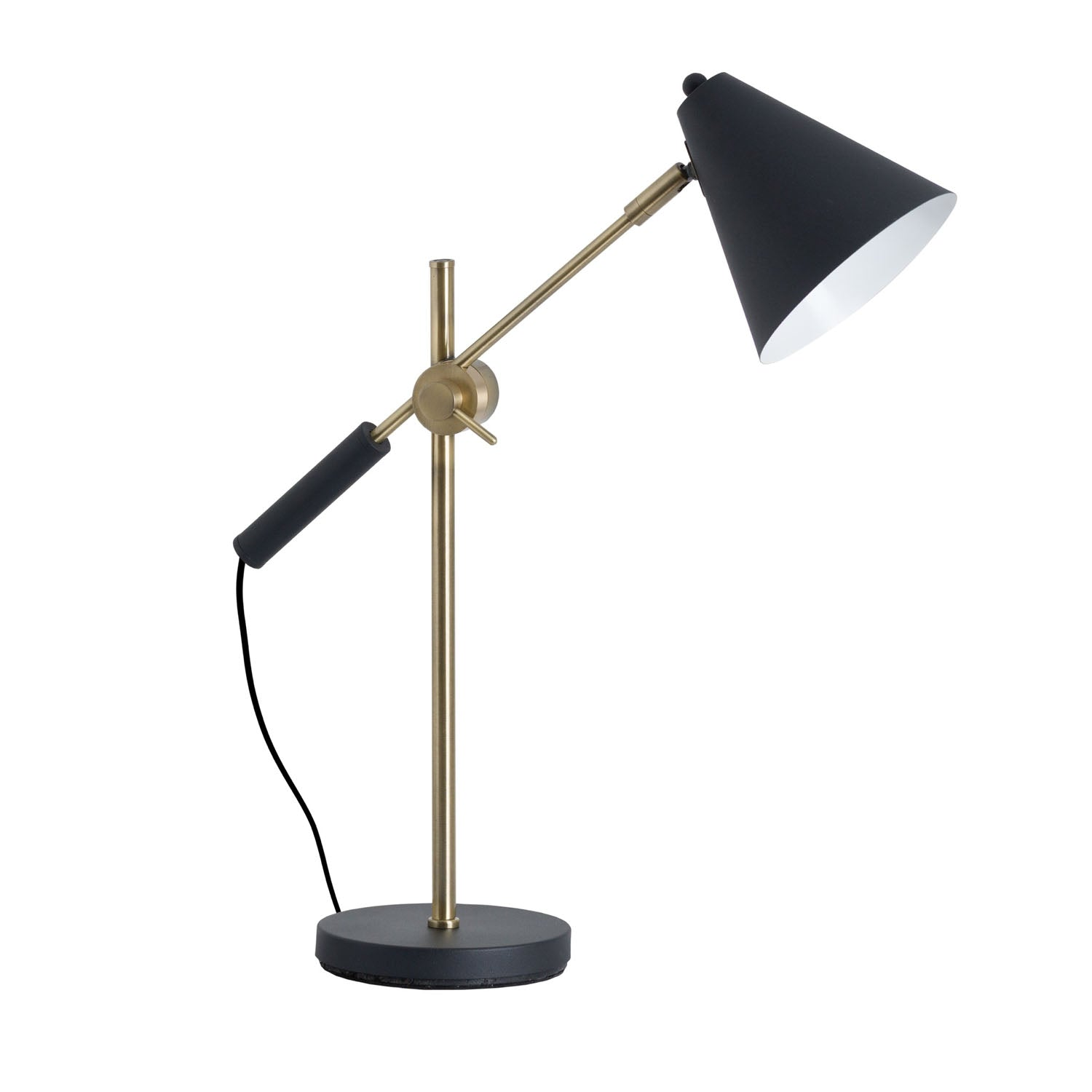 Adjustable Desk Lamp - Black & Brass