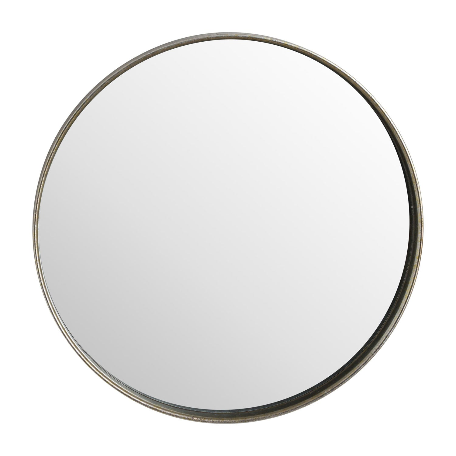 Large Bronze Narrow Edge Round Mirror