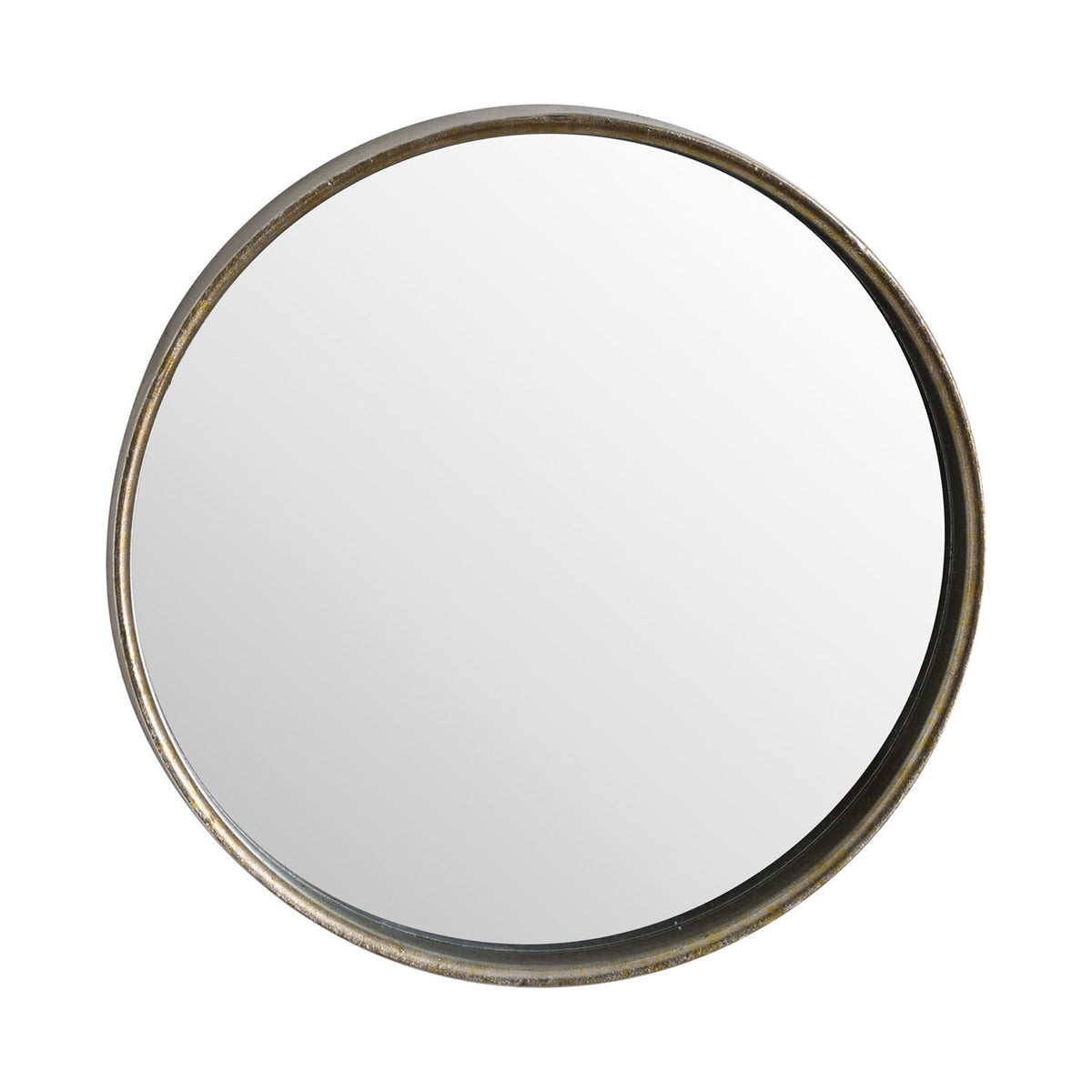 Bronze Narrow Edge Round Wall Mirror