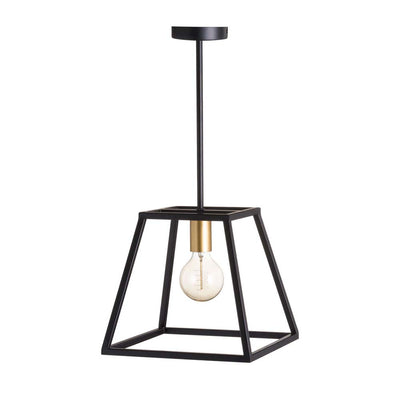 Black and Brass Piped Pendant