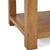 Zelah Oak Large Coffee Table - Close up of lower shelf and legs