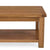Zelah Oak Large Coffee Table - Close up of top and lower shelf