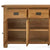 Zelah Oak Extra Large Sideboard - Close up of front with drawers and cupboards open