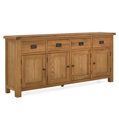 Zelah Oak Extra Large Sideboard by Roseland Furniture