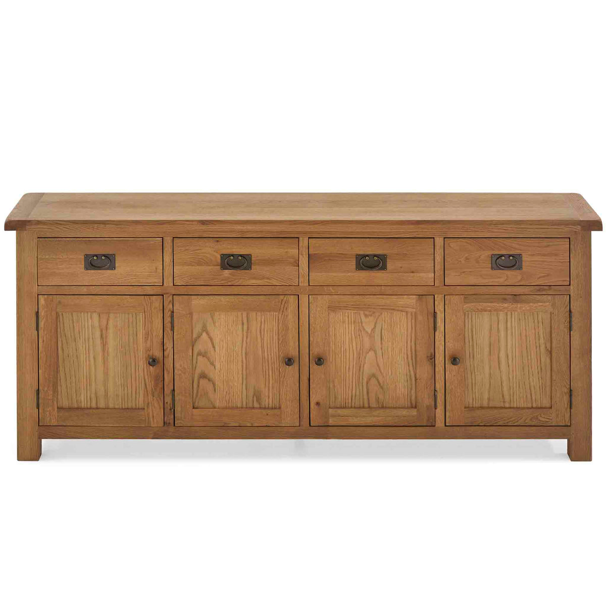 Zelah Oak Extra Large Sideboard - Front view showing top