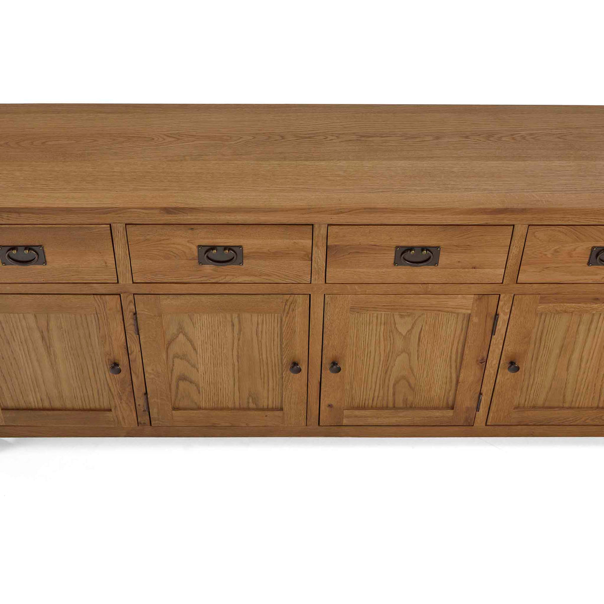 Zelah Oak Extra Large Sideboard - Close up of top of sideboard