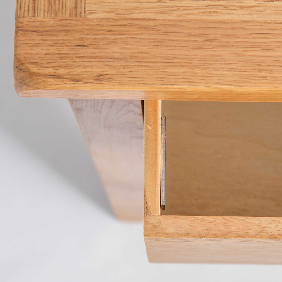top view of opened drawer on the Surrey Oak Large Chest Of Drawers