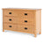 Surrey Oak Large Chest Of Drawers - Side view
