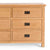 Surrey Oak Large Chest Of Drawers - Close up of right side of drawer fronts