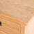 Surrey Oak Large Chest Of Drawers - Close up of top corner