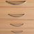 close up of the tiered drawer handles on the London Oak 2 over 3 Chest of Drawers