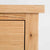 close up of the solid oak top edge on the London Oak 2 over 3 Chest of Drawers