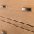 close up of drawers on the London Oak 2 over 3 Chest of Drawers