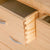 close up of the dovetail joints on the London Oak 2 over 3 Chest of Drawers