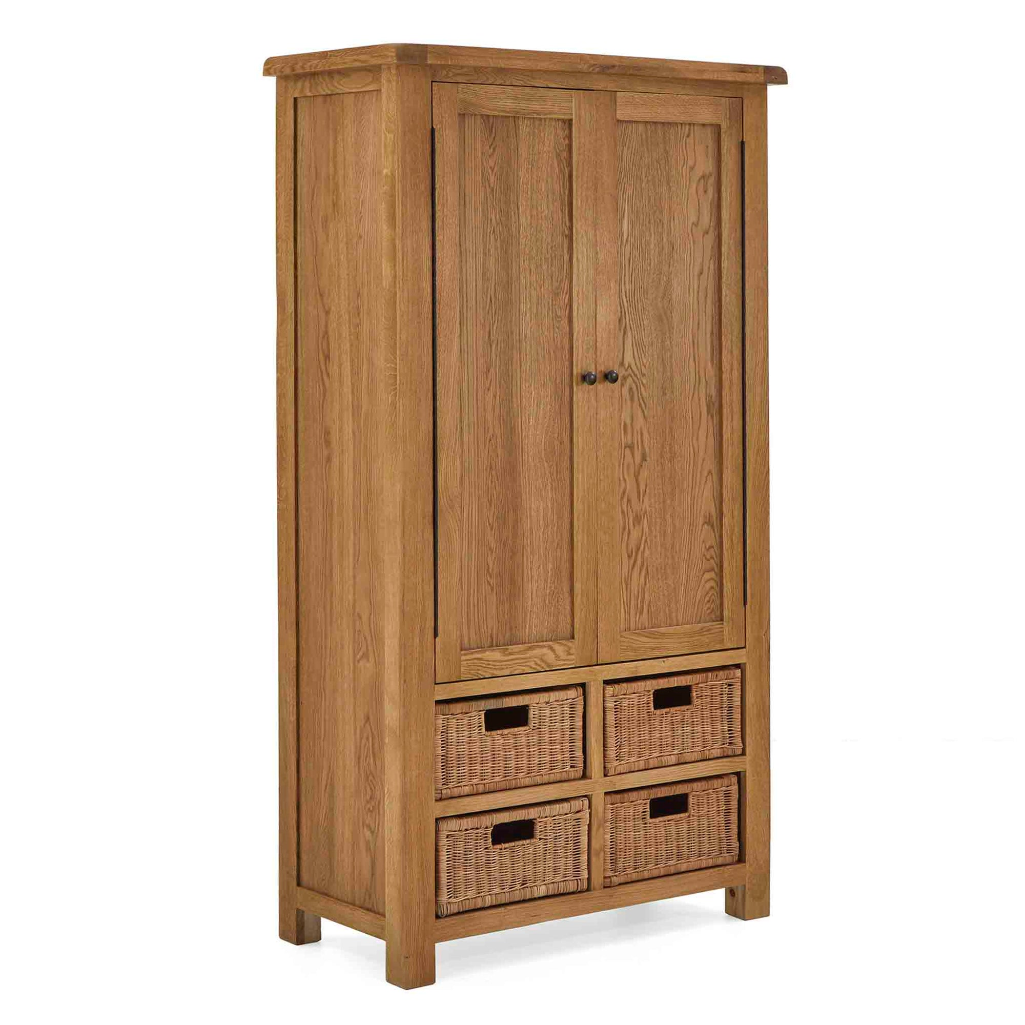Zelah Oak Larder Unit by Roseland Furniture