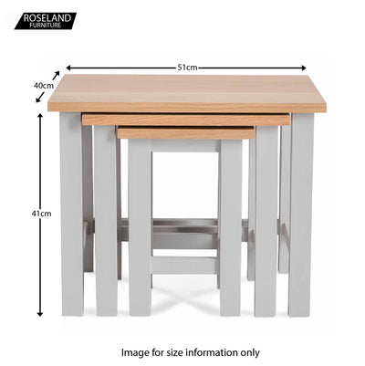 Farrow Grey Nest of Tables - Size Guide