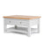 Farrow Grey Coffee Table with Drawer - Side view