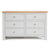 Farrow Grey large 3 over 3 Chest of Drawers by Roseland Furniture