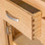 close up of the dovetail joints on the London Oak Mini Sideboard by Roseland Furniture.