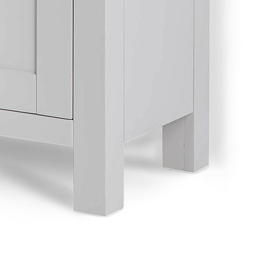 Farrow Grey Mini Sideboard - Close up side view of base