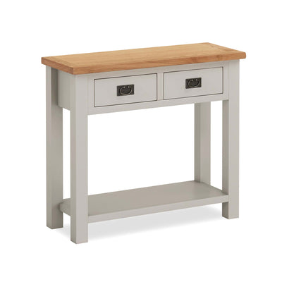 Dorset Stone Grey Console Table by Roseland Furniture