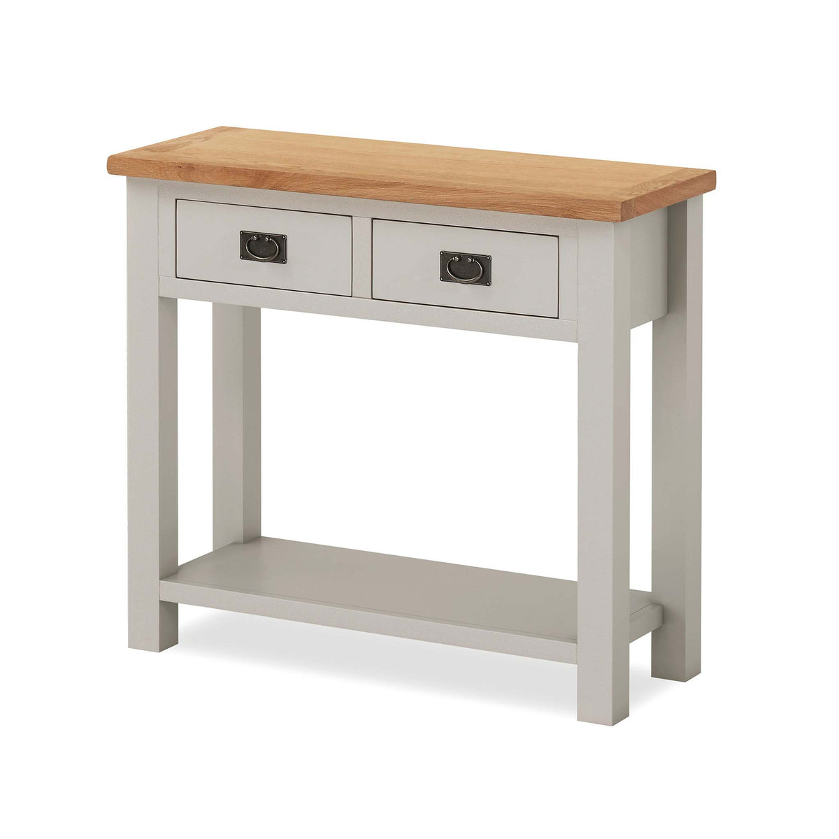 Dorset Stone Grey Hallway Table with 2 Drawers