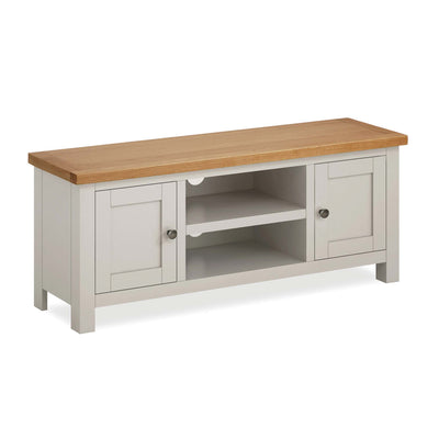Dorset Stone Grey Large TV Unit by Roseland Furniture