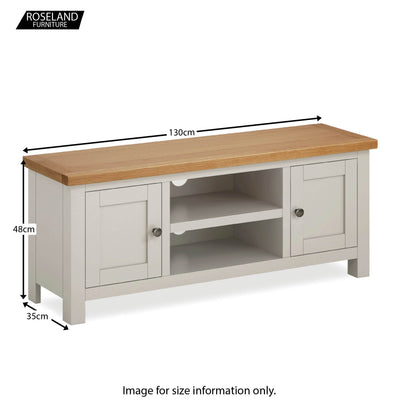 Dorset Stone Grey Large TV Unit size guide