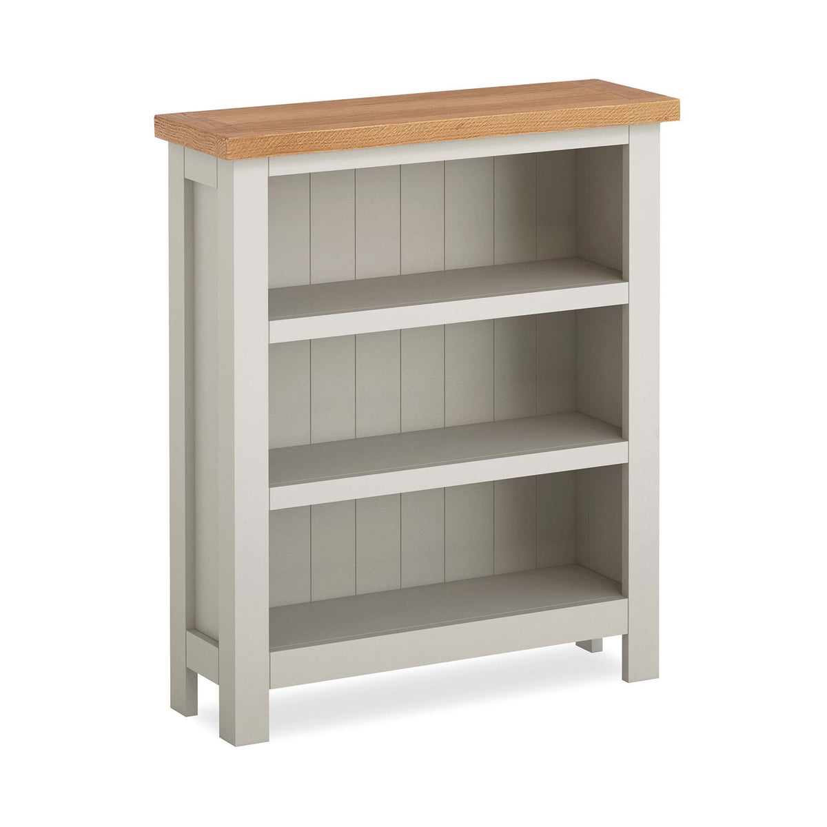 Dorset Stone Grey Low Bookcase by Roseland Furniture