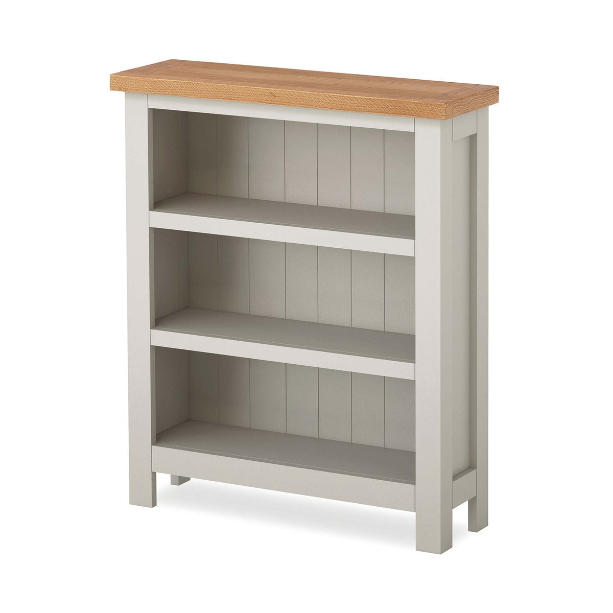 Dorset Stone Grey Small Bookcase by Roseland Furniture