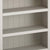 Close up of fixed shelves on the Dorset Stone Grey Low Bookcase