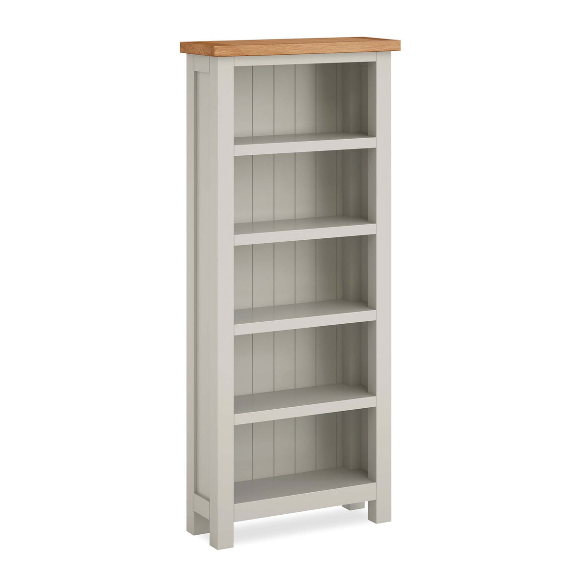 Dorset Stone Grey Narrow Bookcase by Roseland Furniture
