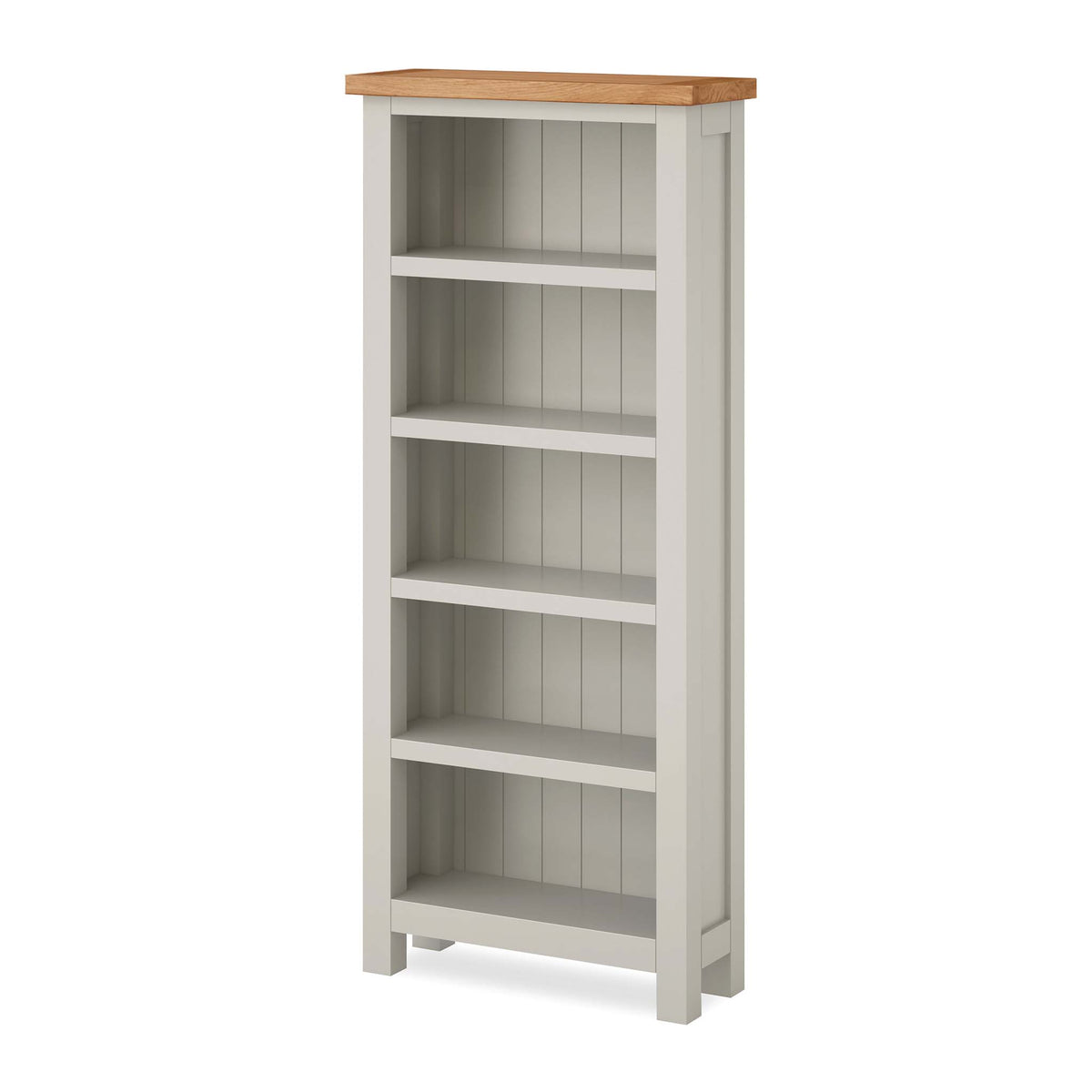 Dorset Stone Grey Slim Bookcase by Roseland Furniture