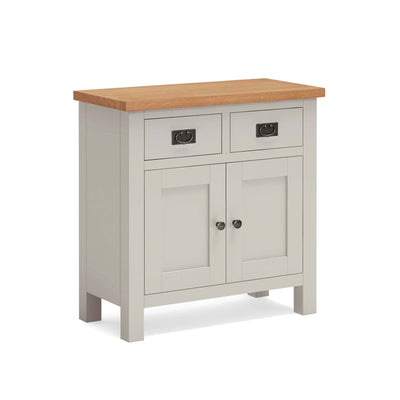 Dorset Stone Grey Mini Sideboard Cabinet by Roseland Furniture
