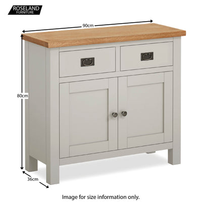 Dorset Stone Grey Small Sideboard Cabinet size guide
