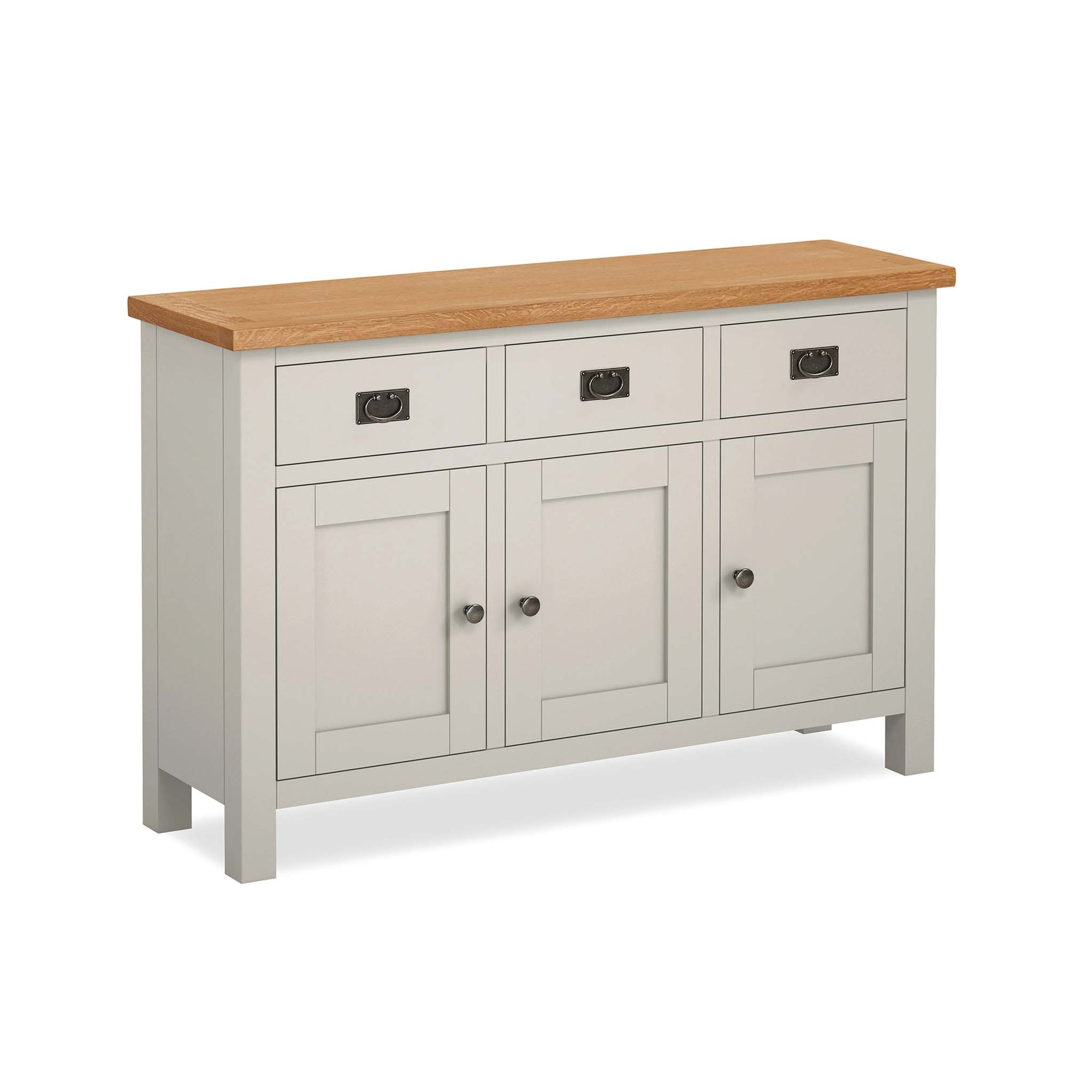 Dorset Stone Grey Large Sideboard Cabinet by Roseland Furniture
