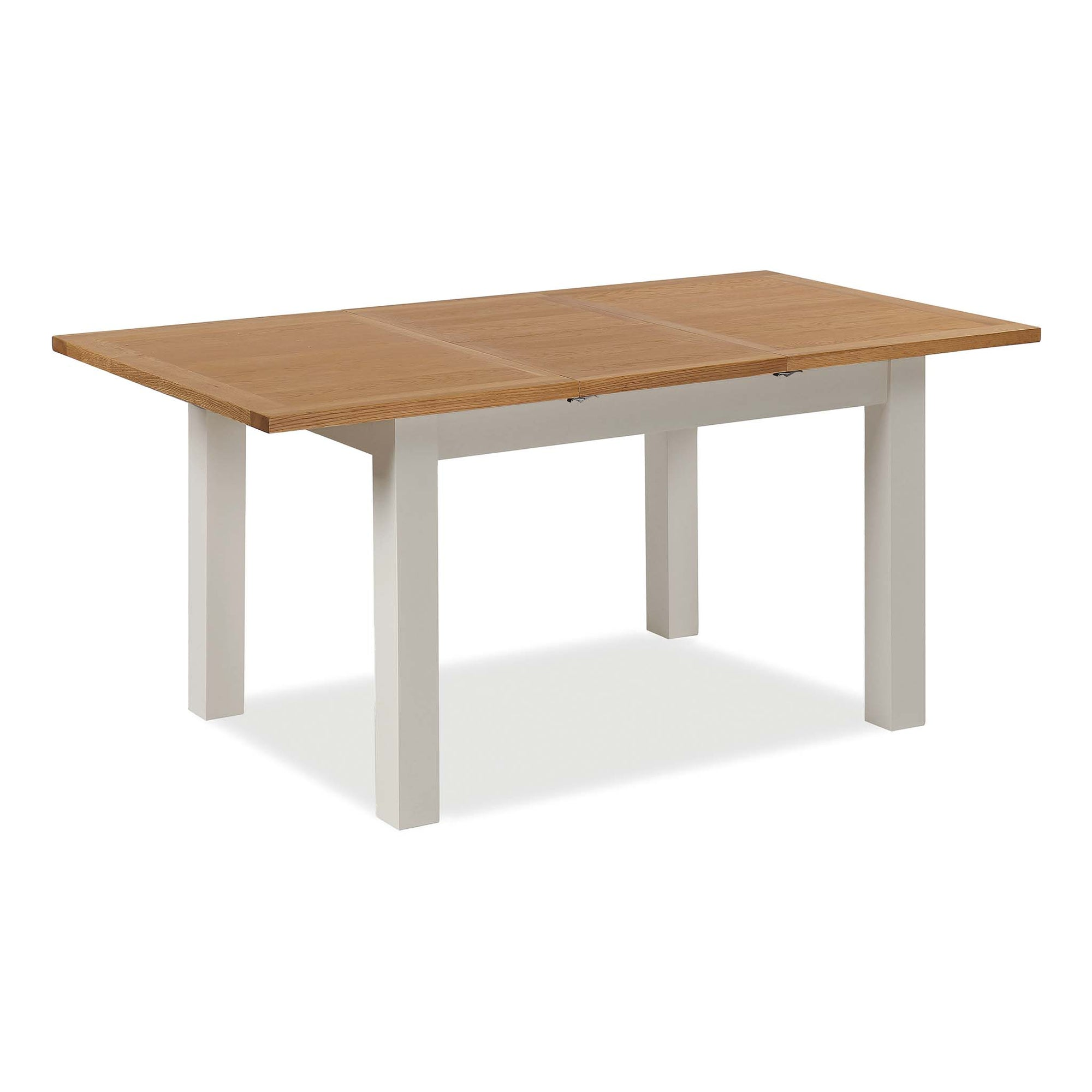 Dorset Stone Grey Compact Extending Dining Table by Roseland Furniture