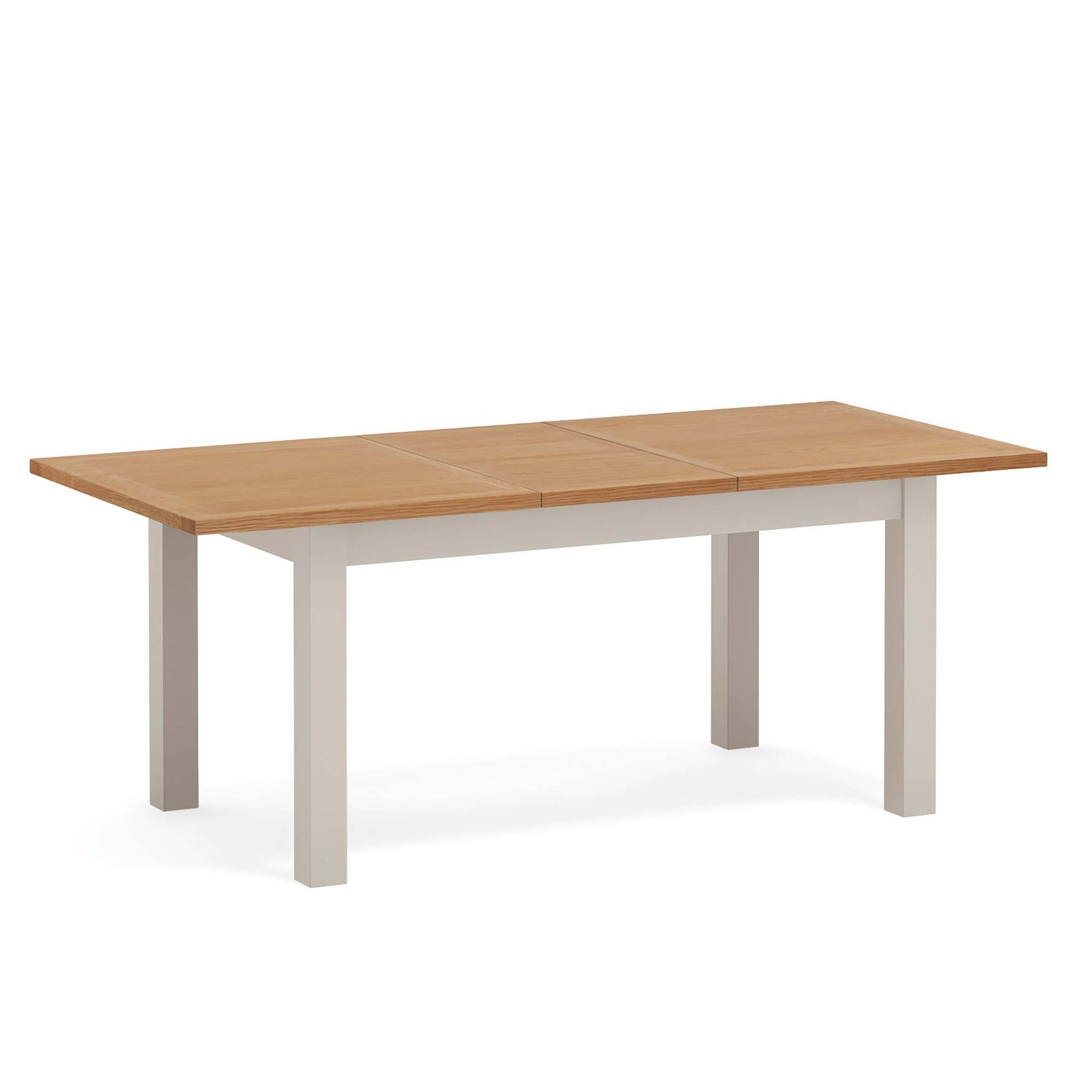 Dorset Stone Grey Small Extending Dining Table by Roseland Furniture