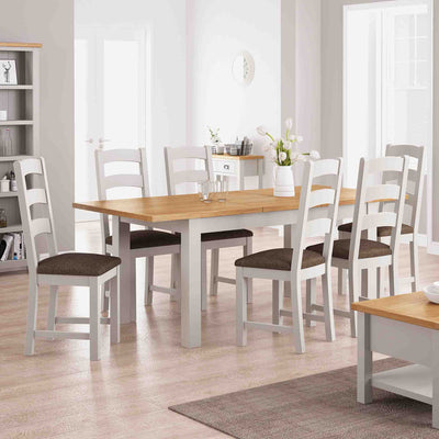 Dorset Stone Grey Extending Dining Table lifestyle image